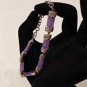 Sterling and Amethyst Bracelet